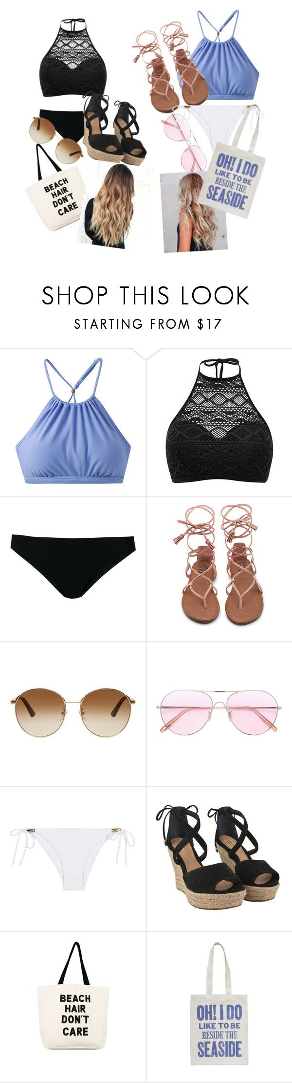 """""""miami beach!:)"""" by rosemariaxx ❤ liked on Polyvore featuring prAna, Rick Owens, Gucci, Oliver Peoples, Heidi Klein, UGG and Fallon & Royce"""