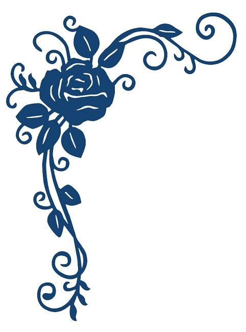 Tattered Lace Dies Ornamental Rose 22 49 Silhouette