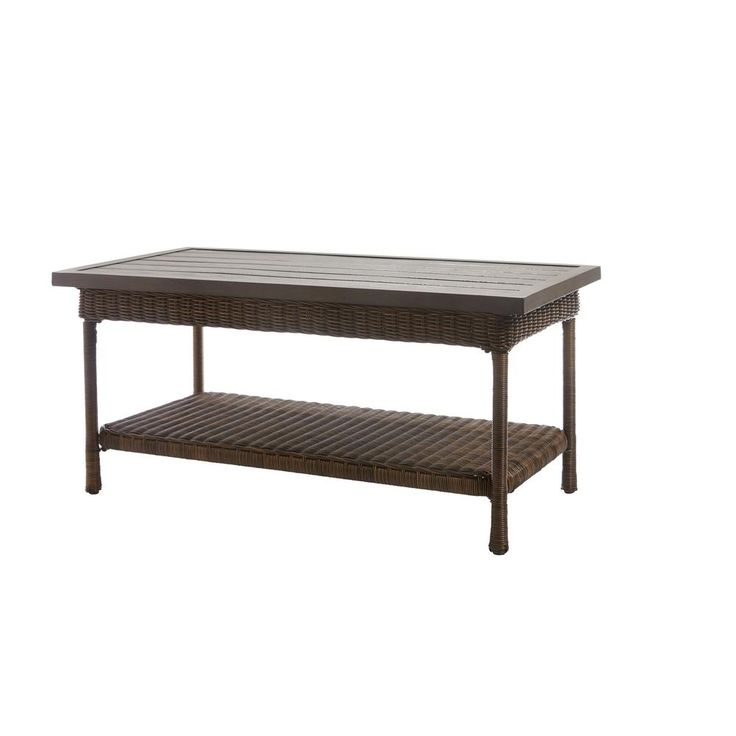 Home Decorators Collection Outdoors The Home Depot In 2020 Coffee Table Outdoor Coffee Tables Outdoor Living Furniture
