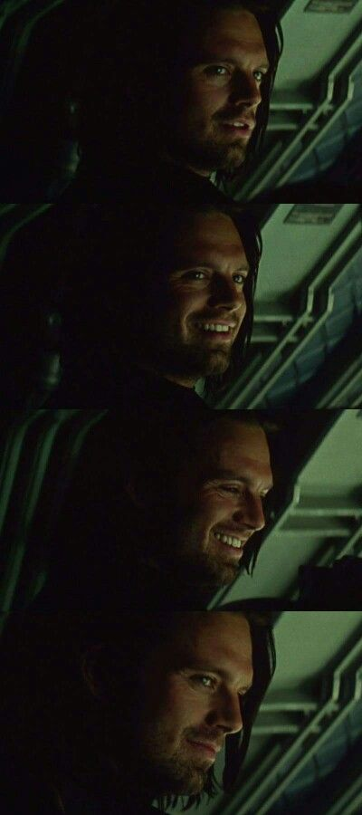 Bucky smile/it has magical powers.