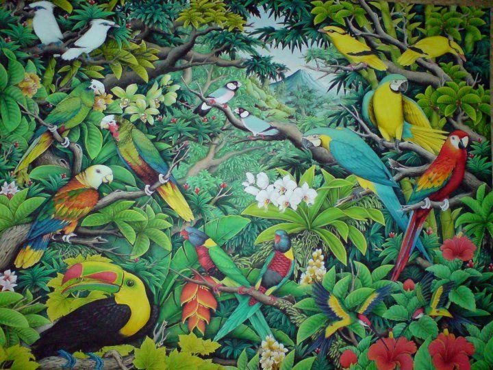 Bali Lukisan Ubud Google Search Pemandangan Sketsa