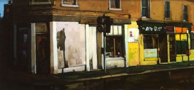 Joe McIntyre_Summer in the City, Early Morning Sunlight, Dundee_Oils_10x22 l Scottish Contemporary Art