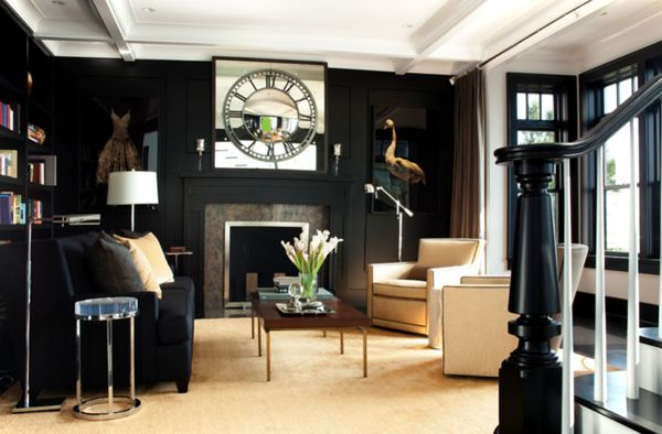 Living Room Curtain Ideas With A Black Couch http://maisonmatiere.com/living-room-curtain-ideas-with-a-black-couch/  #MaisonMatiere #Decor #Home #Curtains #Couch