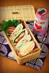 今日の主人弁当(サンドイッチ3種)