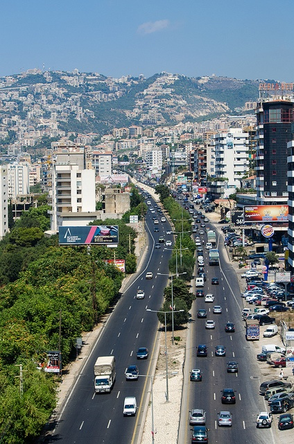 """Jounieh - Tripoli highway from the cable car from Jounieh to the shrine of """"Our Lady of Lebanon"""" in Harissa (view of Adma & Ghazir, nice areas) www.teleferiquelb.com"""