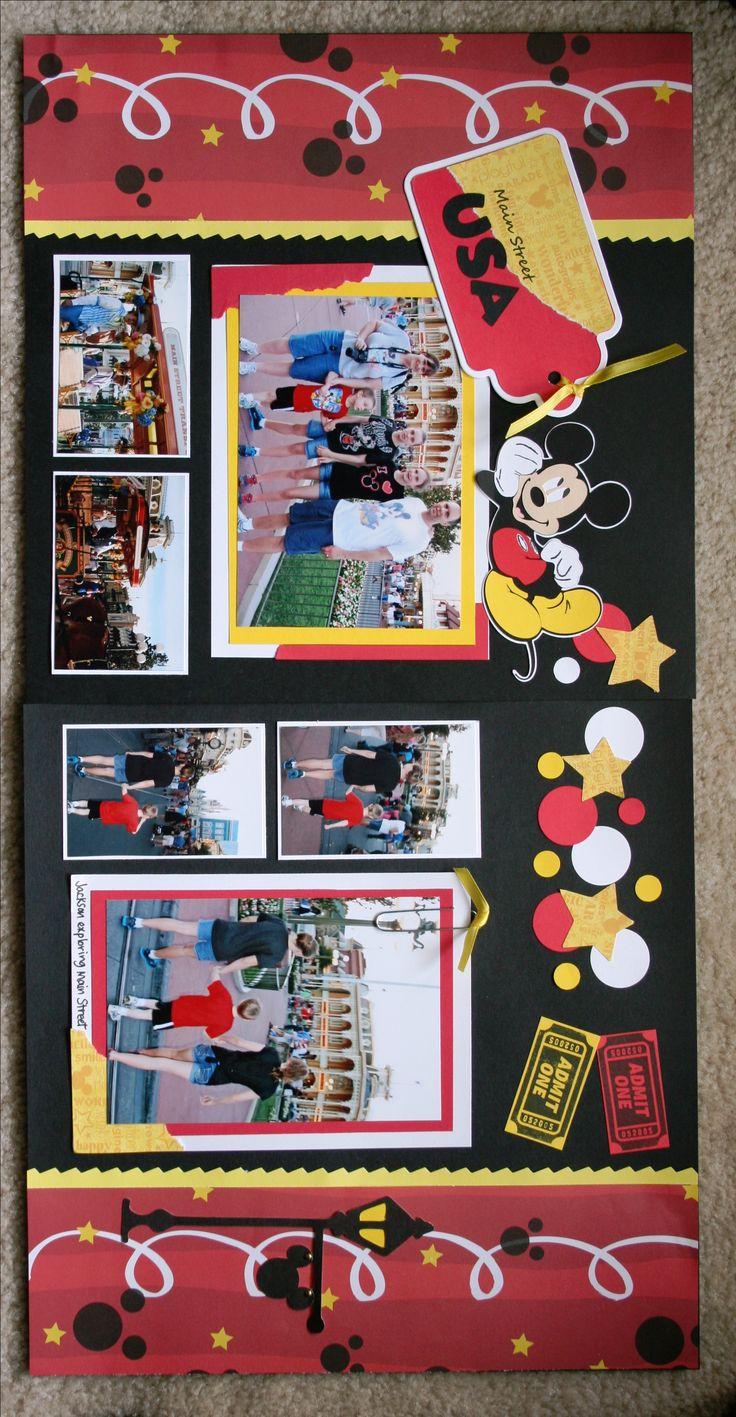 How to scrapbook disney vacation - Disney Magic Kingdom Main Street Usa Scrapbook Com