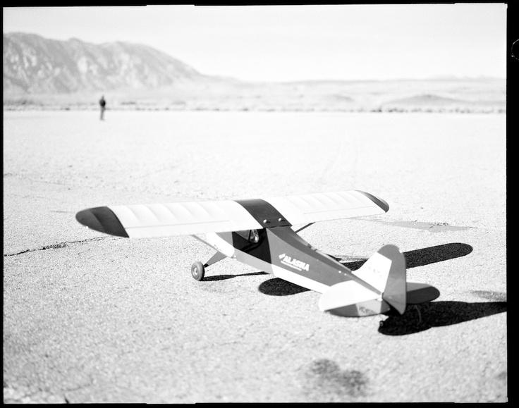 Bishop Airfield  December 24, 2011 Razzle 900 Remote control airplane on 4x5 film.