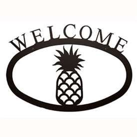 Wrought Iron Pineapple Welcome Sign at Timeless Wrought Iron
