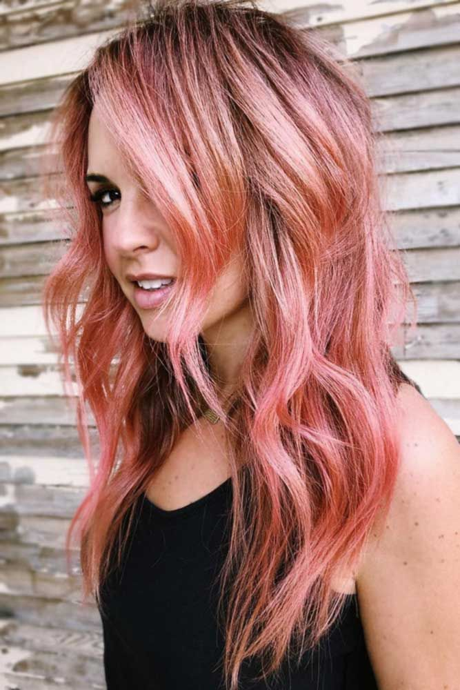 Light Rose Gold Brunette #rosegoldhair #brunette ★ You have probably noticed that rose gold hair is in for a while alrea…