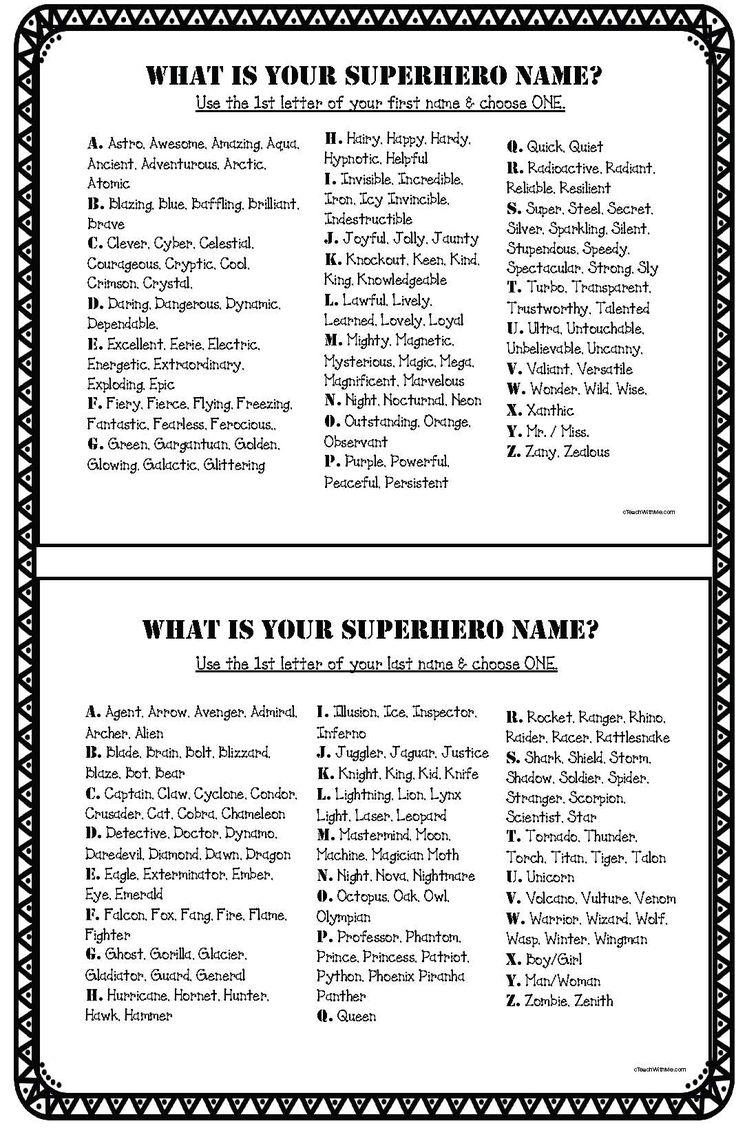 Super Fun Germ Fighting Superhero Activities Superhero Names Create A Superhero Name Activities