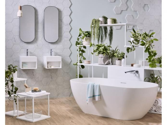 British brand, Clearwater has perfected the art of crafting stone composite baths. Exploring the wonder of this luxurious material through design, the Clearwater Formoso 1690 Freestanding Bath is a stunning piece inspired by organic shapes. The hand-finished bath is as inviting as it is beautiful.
