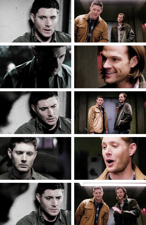 [gifset]Dean interrogating alone vs Sam and Dean interrogating together. 9x18 Meta Fiction vs. 9x21 King Of The Damned #SPN #Dean #Sam