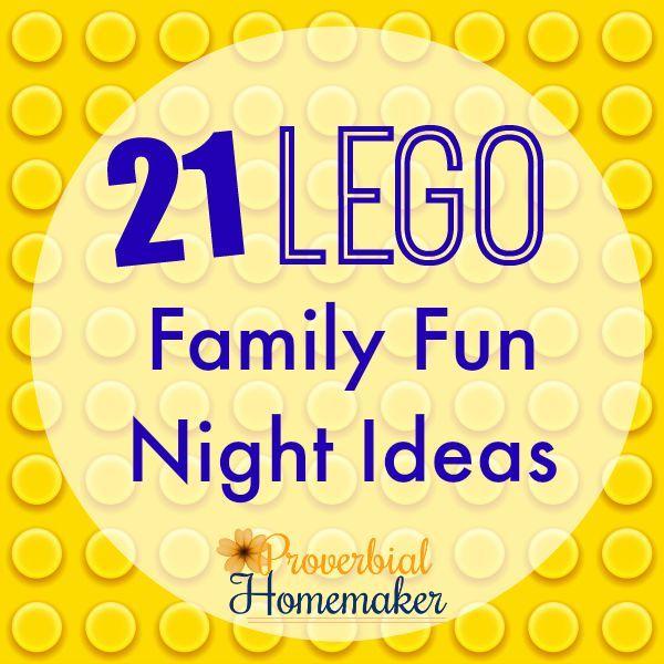 21 Lego Family Fun Night Ideas (+ $230 Family Fun Giveaway!) - http://www.proverbialhomemaker.com/lego-family-fun-night.html