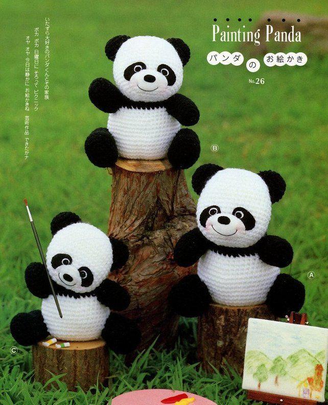 1632c69c619 3 Big Amigurumi Panda Crochet Pattern PDF | Háčkované hračky | Pinterest |  Crochet, Crochet patterns a Crochet projects