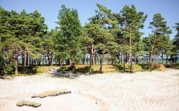 Weg vom Strand zu den Strandresidenzen Prora