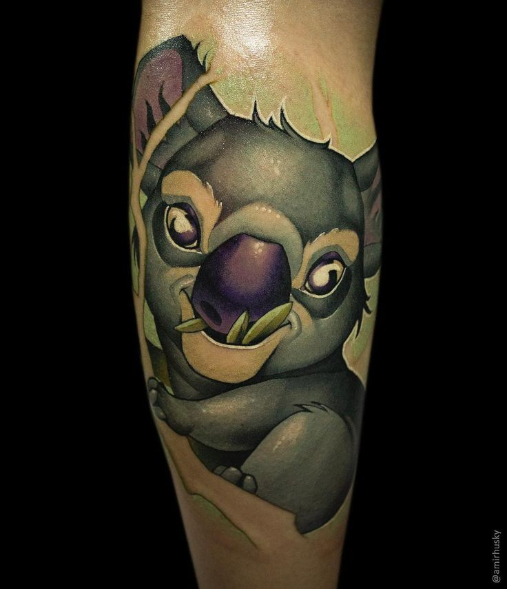 """565 Likes, 9 Comments - Amir Husky (@amirhusky) on Instagram: """"🐨 done with @kwadron @fkirons #art #artist #artwork #tattoo #tattooart #tattooartist #tattooer…"""""""