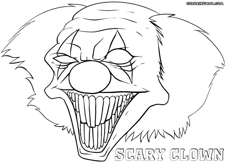 20 Best Scary Clown Coloring Pages in 2020 Scary clowns