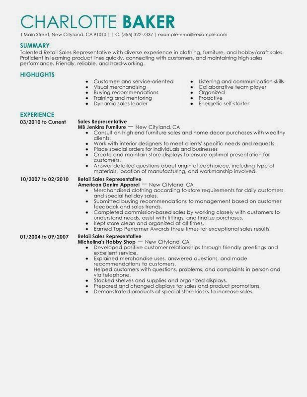 Resume Examples For Retail Resume Examples Pinterest Sample