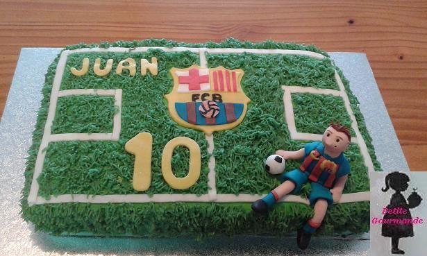 Tarta campo futbol Barça