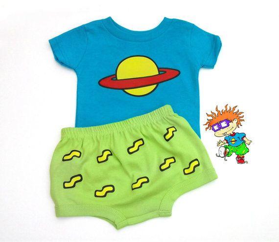 Chuckie Finster Rugrats Baby Shirt Set