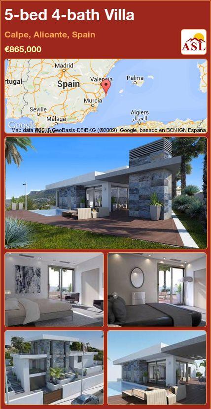 5-bed 4-bath Villa in Calpe, Alicante, Spain ►€865,000 #PropertyForSaleInSpain