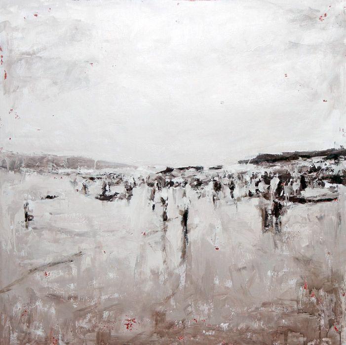 IL MARE | 2014 | Oil and acrylic on canvas | 150 x 150 cm |Luigi Christopher Veggetti Kanku