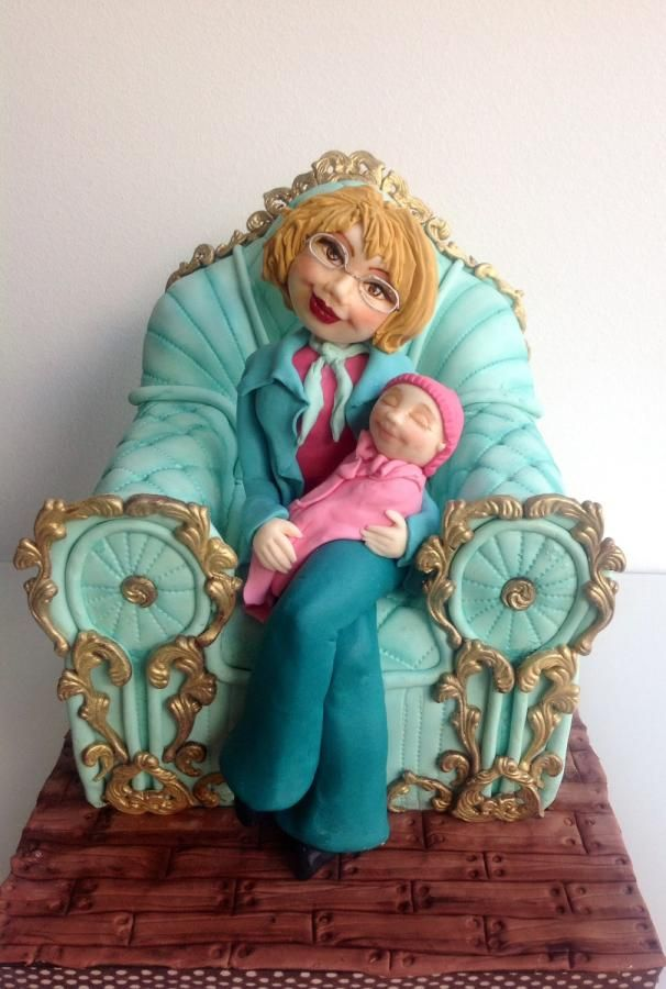 Grandmother and grandaughter  - Cake by Mnhammy by Sofia Salvador