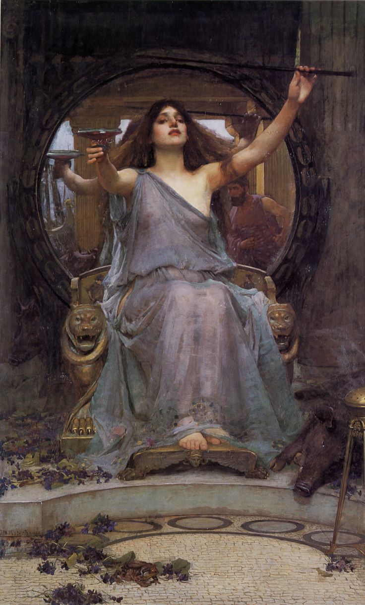 "Circe - yes I know she is ""outwitted"" by Odysseus in the story - but I think she is a fantastic and strong character who shows the crew for the fools and swine they are inside..."