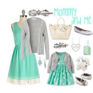 Mommy & Me in Mint with Flexi Clips