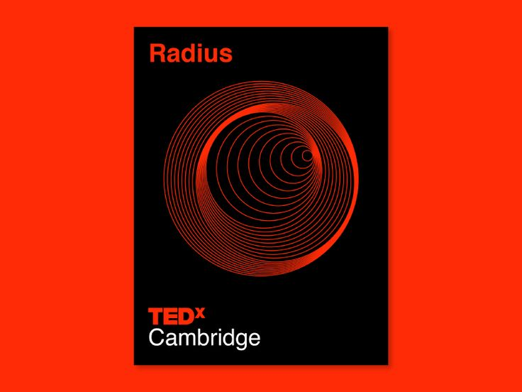 TEDxCambridge Conference After Party Poster Design