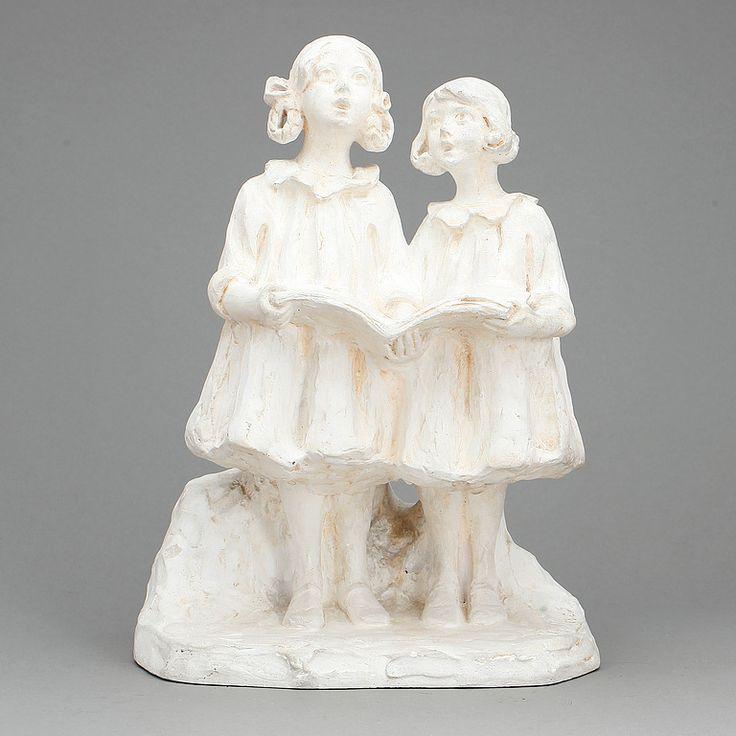 ALICE NORDIN, skulptur, gips, signerad, 1900-talets första hälft.