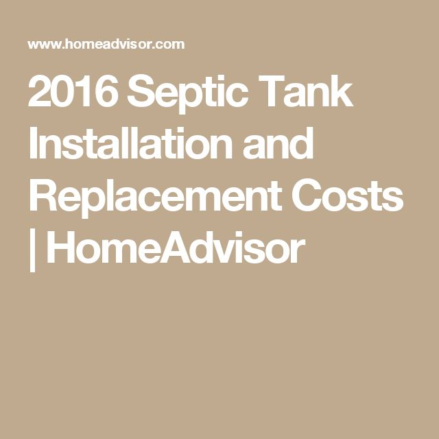 2016 Septic Tank Installation and Replacement Costs | HomeAdvisor