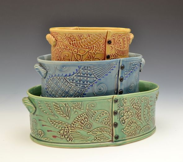 Nesting Casseroles #pottery #creativewithclay