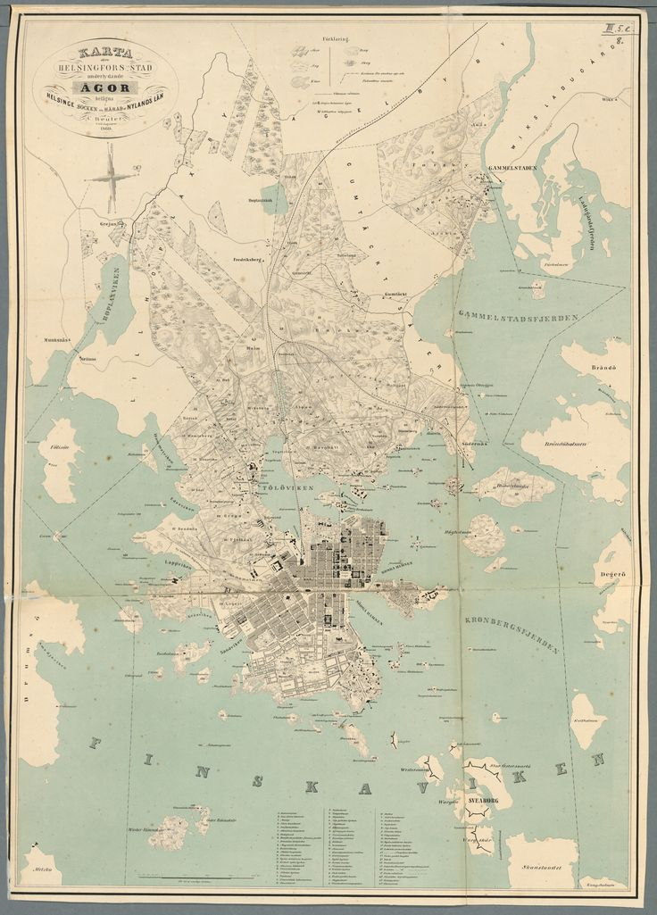 Helsinki and environs, 1869