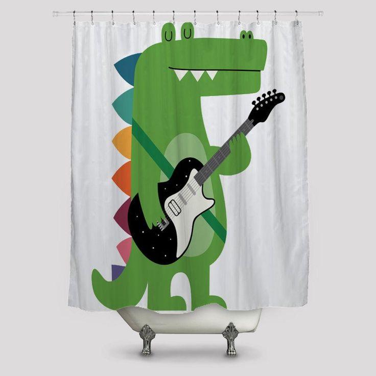 Croco Rock Shower Curtains