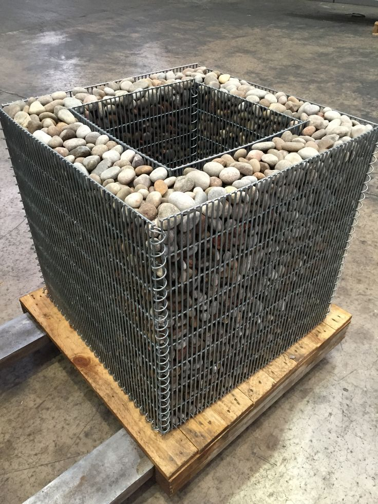 Gabion planter no lid stone wall pinterest planters for Outdoor furniture jeddah