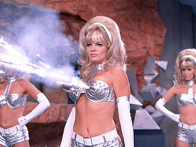 Credit: PR Austin Powers: International Man Of Mystery, 1997There are two fembot costumes in Austin Powers, the metall...
