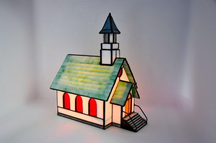 Stained Glass Church Light Tiny Town Church Vitreville Bill Job 5993 Forma Vitrum 1993