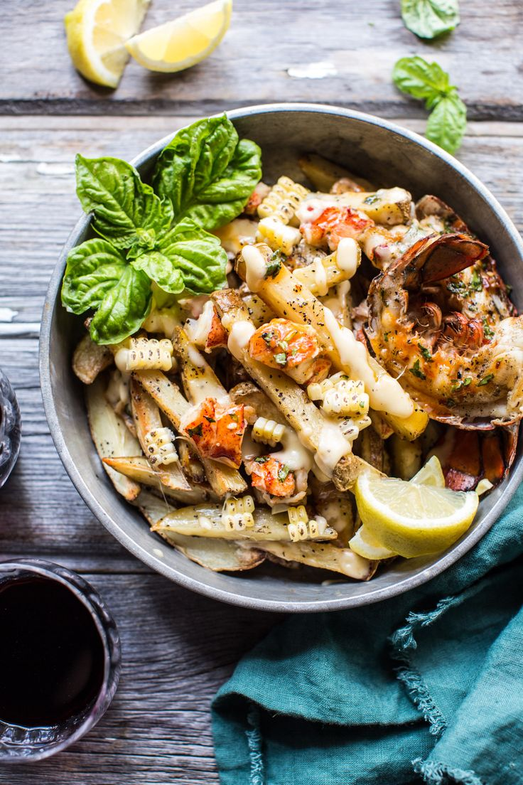 Sweet Chili Butter Grilled Lobster Fries with Havarti cheese - because cheese…