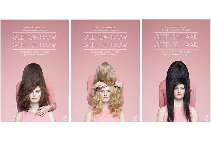 De Nederlandse Haarstichting is hét centrale medium waar iedereen met haarproblemen en haarziekten terecht kan. Met campagne 'Geef om Haar' roepen wij mensen op haar te doneren voor een pruik aan financieel minder bedeelde vrouwen met borstkanker.