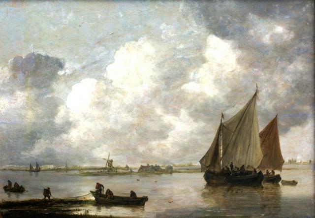 Jan van Goyen, 'Das Haarlemer Meer' (The Lake of Haarlem). Van Goyen 1596-1656)…