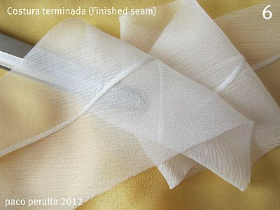 Seam finishes for Sheer fabrics - paco peralta: Tejidos transparentes (Tutorial costura).-