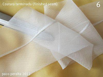 técnica de costura de tecidos finos