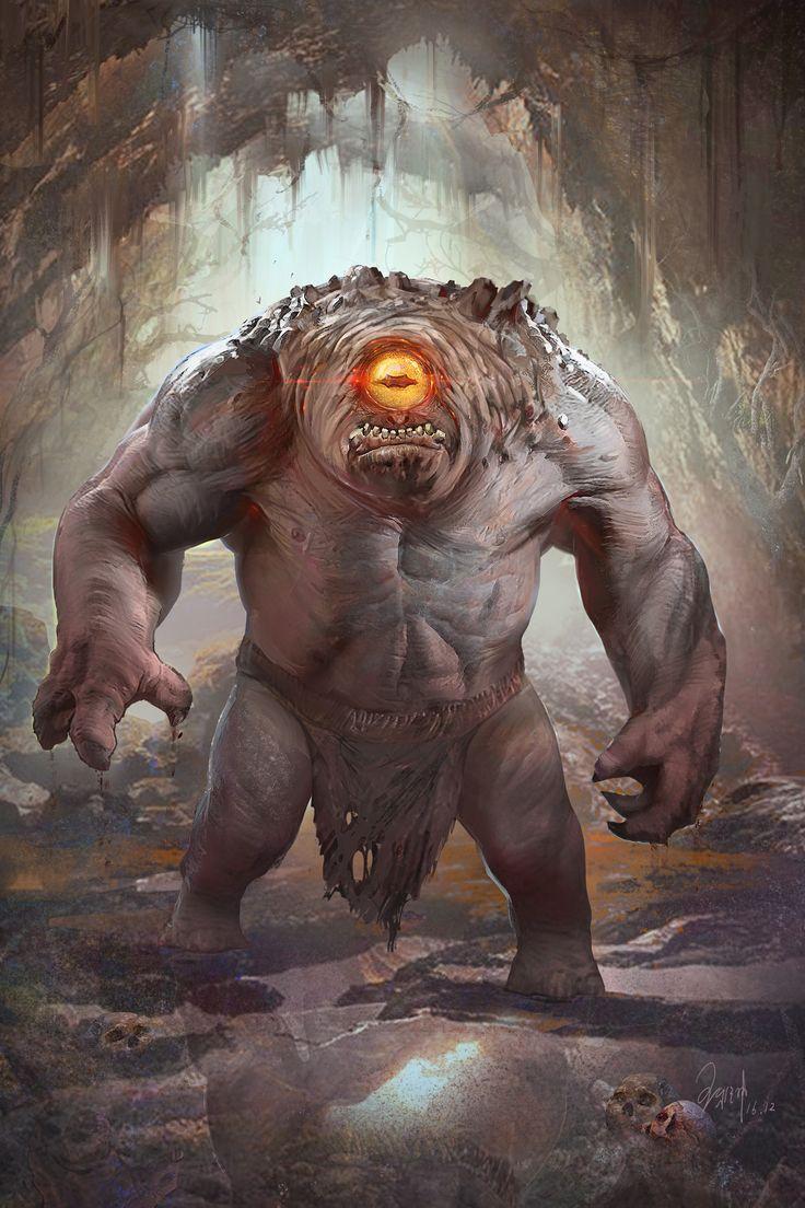 ArtStation - One-eye troll, yakun wang