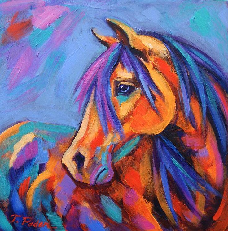 Vivid cavalo pintura a óleo estilo art papel de impressão de cartaz decoração da parede adesivo 50 x 75 cm grátis frete em Papéis de parede de Casa & jardim no AliExpress.com | Alibaba Group