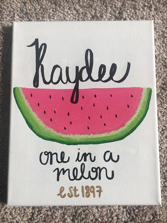 ORDER NOW! READY TO SHIP!! $15 Kappa Delta Watermelon Canvas Customizable