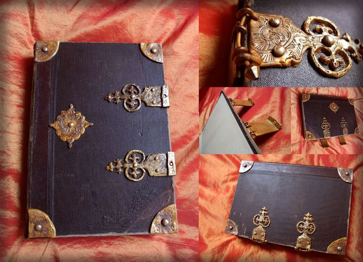 finally, I managed to finish the spell book for my Merlin cosplay *.* >.< I need props too lol, Arthur has crown and sword and Uther too - so what about me LOL haha I used an old leather boun...