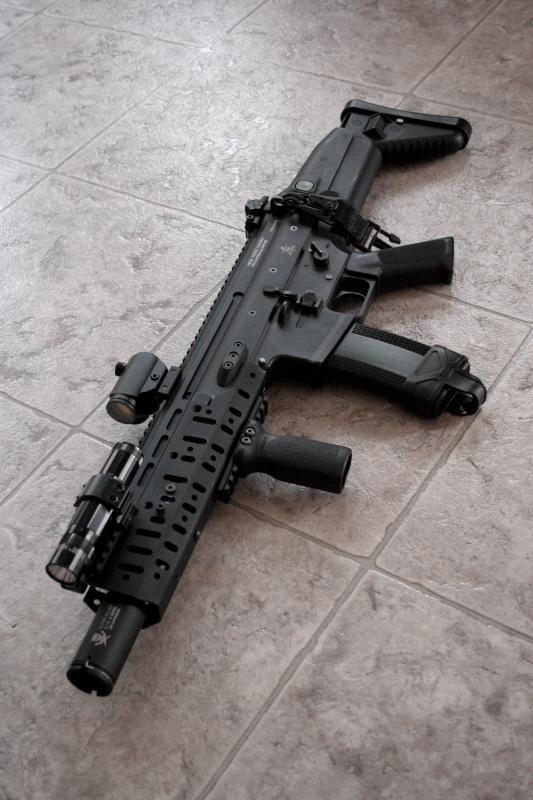 assault rifles