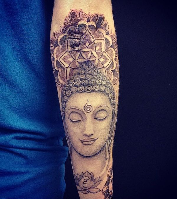 Mandala tattoos are also associated with Buddhism so this is a great combination if you practice the religion. The geometric design of Mandala tattoos could go with the simple and smooth features of Buddha's face. Nonetheless, it would be better to have the Mandala tattoo on a flat surface to show off it's amazing structure.