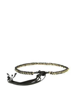 B-Low the Belt Women's Chelsea Wrap Skinny Belt (Black/Gold)
